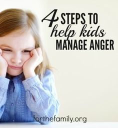 Is your child angry? Childhood gives our kids lots of opportunities to demonstrate a range of emotions, including anger. As parents, its our job to help them process it all. Here are four strategies to help you manage anger in your home, in your own hearts and help heal the hearts of your kids.