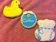 Cookies that I made for my niece and her husband for their second child.