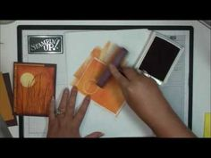 Brayer Sunset Technique using Stampin Up Inspired by Nature - YouTube