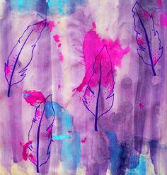 Feather Print purple, Sophie Eccleston 2012
