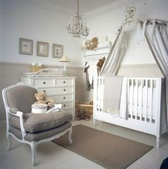 Unique Diy Baby Nursery Decorating Delightful Chandelier As Well As Laminate Flooring Ideas For A Small Room With Exquisite Wooden Cribs Plus Canopy Also White Cabinet