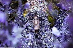 A Floral Birth: Kirsty imagines a creature begotten from nature. Part of Kirsty Mitchell's photography series in memory of her mother who pasted of breast cancer.