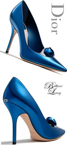 33 Blue Shoes To Update You Wardrobe Now - Dior Boots - Trending Dior Boots. - 33 Blue Shoes To Update You Wardrobe Now louboutin Stilettos, High Heels, Hot Shoes, Blue Shoes, Shoes Heels, Pretty Shoes, Beautiful Shoes, Dior Purses, Dior Jewelry