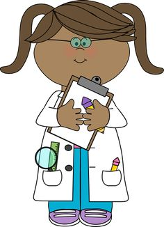 Girl Scientist with Clipboard - Use for Welcome Board to represent girls