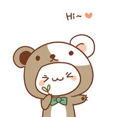 Hi cute cartoon pets image emoji Cute Cartoon Drawings, Cute Cartoon Animals, Kawaii Drawings, Cartoon Pets, Arte Do Kawaii, Kawaii Art, Cute Photos, Cute Pictures, Cute Doodles
