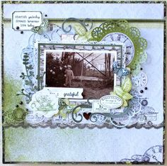 "Kaisercraft Provincial - ""Cherish Yesterday, Dream Tomorrow, Live Today"" by Alicia McNamara Heritage Scrapbook Pages, November Challenge, Scrapbooking Layouts, Vintage World Maps, Projects To Try, Challenges, Paper Crafts, Live Today, Creative"