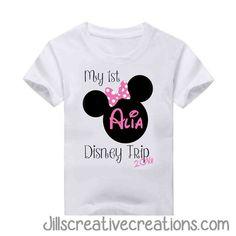 My First Disney Trip T-Shirt Disney 2017, Disney Day, Disney World Vacation, Disney Family, Disney Cruise, Disney Vacations, Disney Trips, Family Vacations, Cruise Vacation