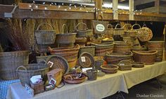 https://flic.kr/p/B7ppCD | Katherine Lewis willow baskets | more info at www.dunbargardens.com