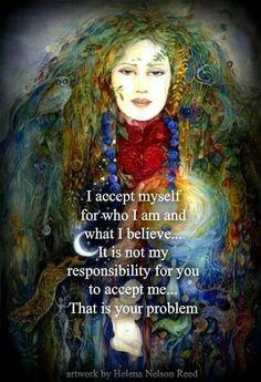 I accept myself...