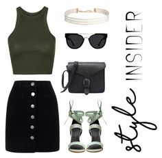 """Day outfit"" by jem199914 on Polyvore featuring moda, Miss Selfridge, Topshop, TIBI, Quay, Humble Chic, contestentry, laceupsandals y PVStyleInsiderContest"
