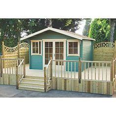 Shire Caledonian Log Cabin 4.1 x 4.1m | Log Cabins | Screwfix.com