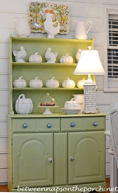 Decorate a Hutch for Fall in White_wm