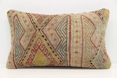 Handmade Lumbar Kilim Pillow Cover 12 x 20  by kilimwarehouse