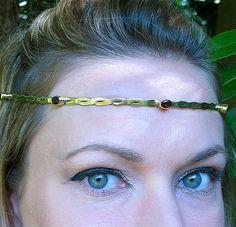Crystal and Brass Circlet by SpiritoftheGoddess on Etsy, $62.00