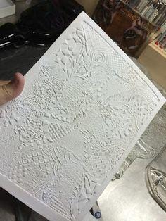 DEBORHREAD.COM: Making a ceramic tile for slumping