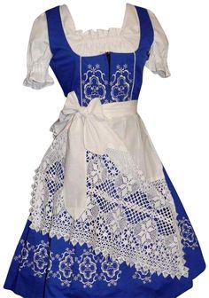 Amazon.com: Dirndl Trachten Haus 3-Piece Long German Wear Party Oktoberfest Waitress Dress: COSTUME -- large zipper noticible zip up front. (Amazon)