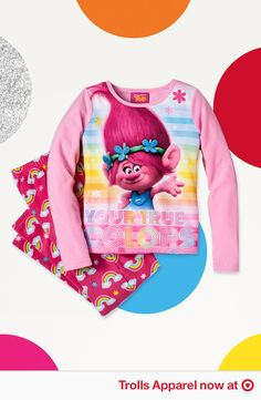 eeb3cb20 Rock Your True Colors even at bedtime. Find pajamas and more fun DreamWorks  Trolls gear