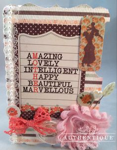 "Authentique Paper: Paper Crafting Projects for Mom with ""Grace"""