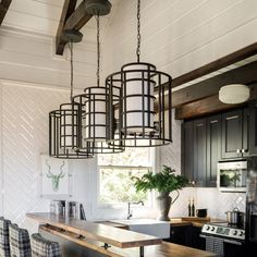 This Brian Patrick Flynn industrial pendant from Crystorama is a part of the Hulton collection and comes in a matte black finish Kitchen Lighting Fixtures, Light Fixtures, Metal Drum, Cozy Place, Next At Home, Drum Shade, Easy Projects, Home Improvement Projects, Light Decorations