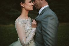 Such a lovely picture, so cute! And I love her dress! #wedding #dress #love #lace