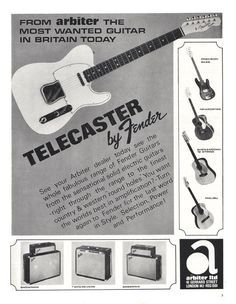 Advertisement (1966) Telecaster by Fender