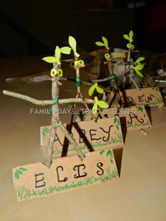 "Love these Stick Man name cards from from Family days. Tried & tested. ("",)"