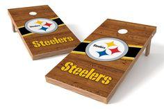 Pittsburgh Steelers Cornhole Board Set - Logo http://prolinetailgating.com/