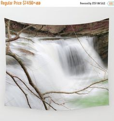 10% off Waterfalls Tapestry, Water Tapestry, Falls Tapestry, Waterfall wall hanging, Nature Tapestry, Wilderness Tapestry, Landscape Tapestr by mayaredphotography. Explore more products on http://mayaredphotography.etsy.com