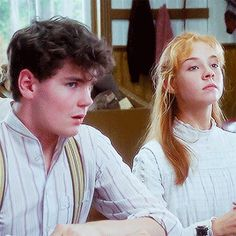""""""" The first time we met was in the Anne of Green Gables production office for a preliminary read-through of the script. I was I think Johnny was I remember thinking he was so sweet and. Jonathan Crombie, Tomorrow Is A New Day, Gilbert And Anne, The Borgias, Gilbert Blythe, Anne Shirley, Kindred Spirits, Classic Literature, Film Serie"""