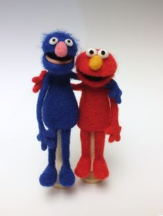 Grover And Elmo Finger Puppets