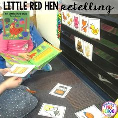 The Little Red Hen retelling character and event cards! Perfect for preschool, pre-k, and kindergarten.