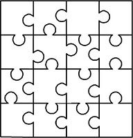 Puzzle, would be cute to write a message and then take apart and mail.