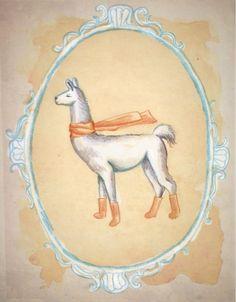 Llama Socks Print by arawlins on Etsy