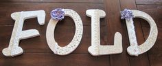"""8"""" Decoupaged Custom Wooden Letters for the Laundry Room from DecorativeDecoupage on Etsy!"""
