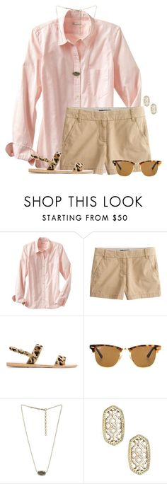 """""""Go follow @hey-faith she has wonderful sets! Comment if you followed her!!"""" by flroasburn ❤ liked on Polyvore featuring Gap, J.Crew, Ancient Greek Sandals, Ray-Ban and Kendra Scott"""