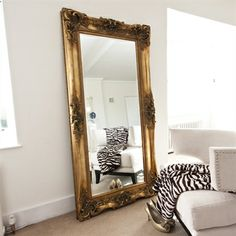 Image of Elaborate Gold Full Length Mirror