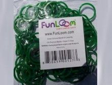Sparkly Green FunLoom Rubber Bands