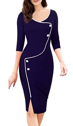 HOMEYEE Women's Retro 3/4 Sleeve Formal Evening Cocktail ... https://www.amazon.com/dp/B01LGZM01Y/ref=cm_sw_r_pi_dp_x_aQ-bzbMF3BXKV