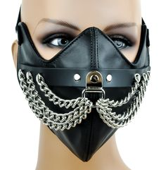 Silver Chain Motorcycle Riding Mask Biker Cosplay