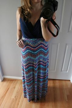 Love the darker top and colorful lower part. If this goes with my frame, dear stylist...please find a fun maxi dress that isn't too tight!! Gilli Tahj Maxi Dress #stitchfix #stitchfixreview