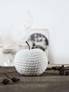 Crochet Fruit, Crochet Food, Diy Crochet, Crochet Apple, Knitting Designs, Knitting Patterns, Crochet Patterns, Vintage Diy, Vintage Crochet