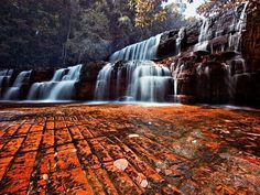 Venezuela - Kako Paru Waterfalls   Quebrada de Jaspe. Gran Sabana. One of the most beautiful places in the world