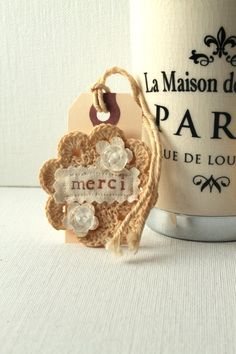 Gift Tags Handmade French Vintage Style by creativecarmelina