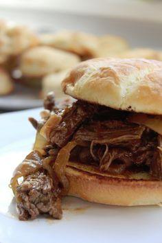 Crock Pot Bourbon Barbecue Beef Sandwiches