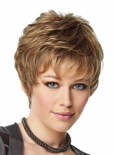 2015 Africa / America haircut short hair naturally wavy wig colored wig bangs #…