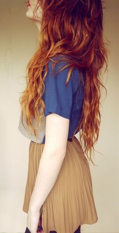 red ombre! - Click image to find more hair posts