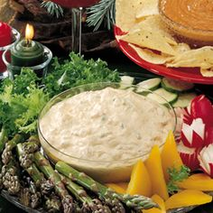 ***BUFFALO VEGGIE DIP- Very good. Add some bleu cheese and chicken. Really good dip.