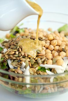 jicama pepita garbanzo salad This is very good and light. CP#Repin By:Pinterest++ for iPad#