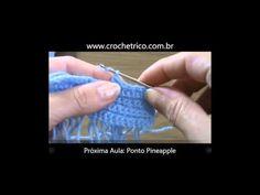 Crochê para Canhotas - Guia de Pontos - Aula 33 - Ponto Argola (ou Bucle)