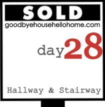 Organizing the hallway closets when staging your home for sale.